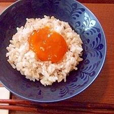 醤油麹で!濃厚~卵黄の醤油麹漬け☆