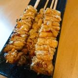 鶏皮で焼鳥☆甘辛タレ