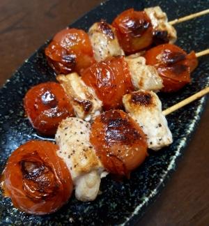 ミニトマトで串焼き♥簡単なのに居酒屋気分♪