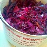紫キャベツの炒め物