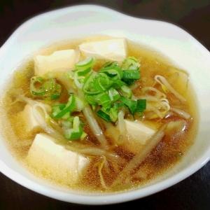 簡単!! ザーサイ入り豆腐の中華スープ☆