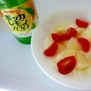 ☆リンゴとトマト入り♪ はちみつレモンヨーグルト☆