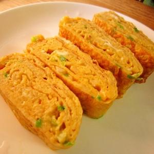 お弁当おかず☆フワフワ長芋入り葱玉子焼き