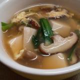 あったか具沢山☆まろやか中華ニラ卵スープ