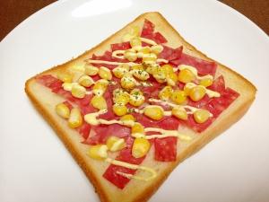 朝食に☆ボロニアソーセージのマヨトースト