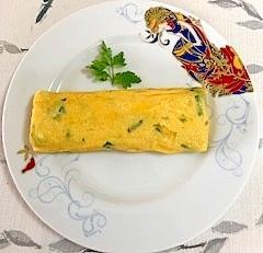 長葱の卵焼き