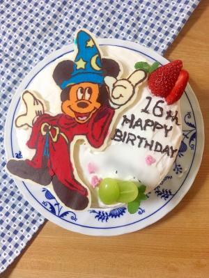 ファンタジア☆ミッキーのキャラBDケーキ♪