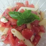 トマト バジル チーズのペンネサラダ⭐