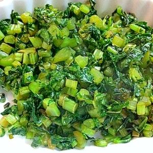ご飯のお供♡大根葉の炒め物