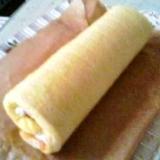 マロンクリームのミニロールケーキ♪