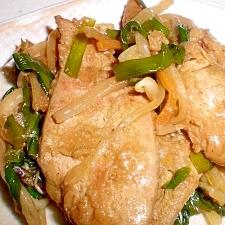 豚肉とニラのニンニク醤油炒め