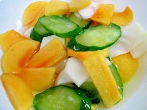 柿とかぶの酢の物