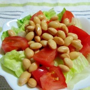 美容に嬉しい☆茹で大豆のサラダ