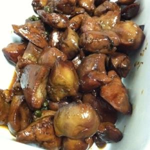 鶏肝の山椒煮