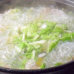 温まる~♪ 肉団子の中華風春雨スープ鍋