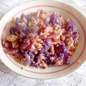 紫カリフラワーのボリュームチャーハン