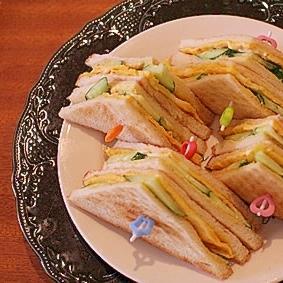 玉子焼きホットサンド (パン少なめ)