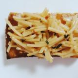 釜玉ふりかけマヨ素麺トースト