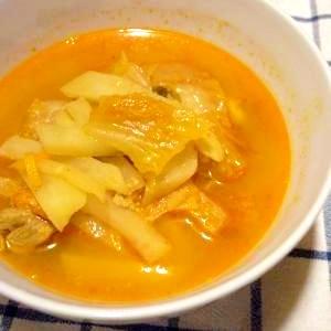 豚肉とじゃがいものキムチスープ