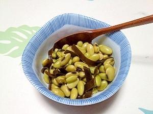 ひたし豆と昆布のお出汁煮++