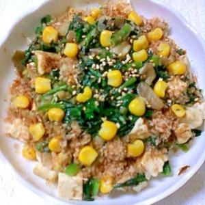 お手軽☆ほうれん草と舞茸と豆腐のソテー