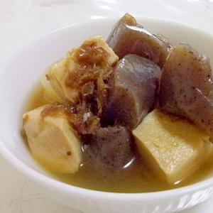 レンジで簡単♪ヘルシー♪高野豆腐とこんにゃくの煮物