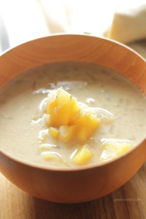 ほっこり温まる♪ヘルシー豆乳カレースープ