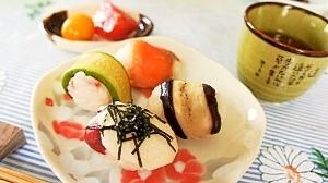 簡単♪彩り手毬の朝寿司