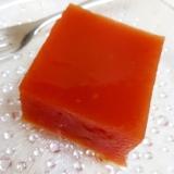 簡単!(^^)トマト缶とオレンジジュースの寒天♪