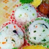 ✿きざみ野沢菜とわかめと鮭フレークのおにぎり❤