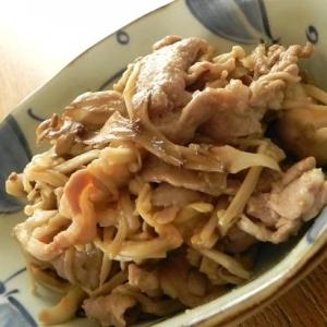 きのこと豚肉のにんにく味噌マヨ炒め
