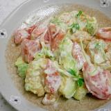 海老・トマト・とうみょうのサラダ