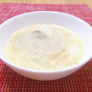 ホッコリ体が温まる♡かぶと貝たっぷりの白味噌スープ