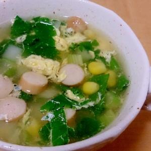 勿体ない!!セロリの葉を使った節約スープ