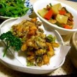 大豆とアラメのさくっとかき揚げ