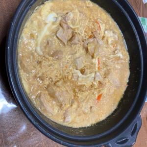 土鍋で鶏胸肉の和風卵とじ