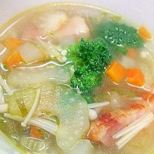 ベーコン・セロリ野菜スープ