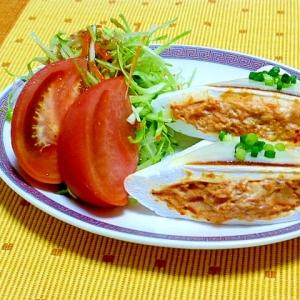 鶏キムチのはんぺんサンド