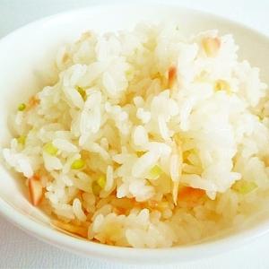 甘酢漬け葉生姜の混ぜご飯