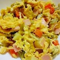 たっぷり野菜の卵炒め