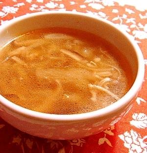 玉ねぎトロトロ☆きのこのスープ