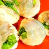 春のおもてなしに、簡単白身魚と菜の花の手毬寿司