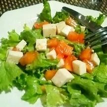 柿と豆腐のサラダ