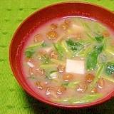 毎日のお味噌汁75杯目*簡単・納豆汁