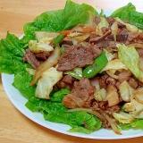 焼き肉のたれで肉野菜炒め