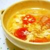 ミニトマトと卵のふんわり中華スープ