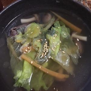 レタスときくらげの中華スープ