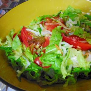 大根とレタスとトマトの甘酢サラダ