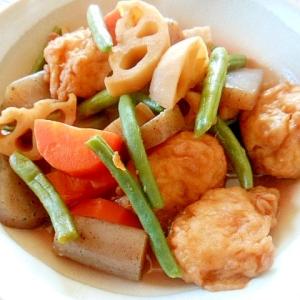 海老天と野菜の煮物