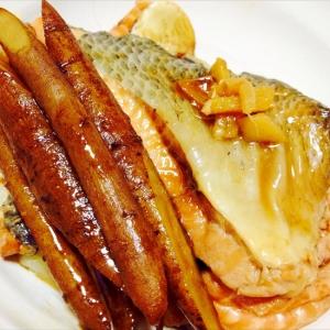 鮭(あら)とごぼうのほろほろ煮  圧力鍋で。
